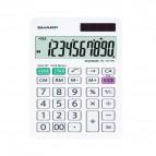 Calcolatrice da tavolo EL 377W - 10 cifre - doppia alimentazione - bianca - Sharp - EL377W