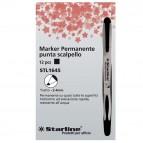 Marcatore permanente Starline - punta a scalpello da 2,00-4,00mm - nero - Starline