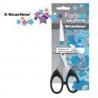 Forbici - 16 cm - lama in acciaio - impugnatura in ABS - nero - Starline