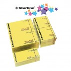 Blocchetto biglietti adesivi - giallo - 75 x 125mm - 70gr - 100 fogli - Starline