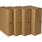 Scatola progetto - dorso 8 cm - 25x35 cm - cartone FSC - avana - Starline