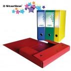 Scatola progetto KingPro - con portaetichetta - dorso 8 cm - rosso - Starline