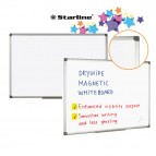 Lavagna bianca magnetica - 90x120 cm - bianco - Starline