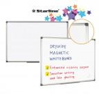 Lavagna bianca magnetica - 100x150 cm - bianco - Starline